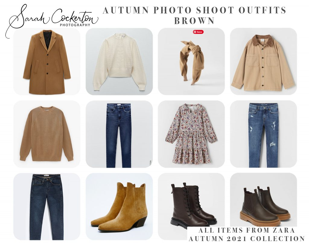 Autumn Photo Shoot Outfit Inspiration for the whole family - Brown Colour Palette