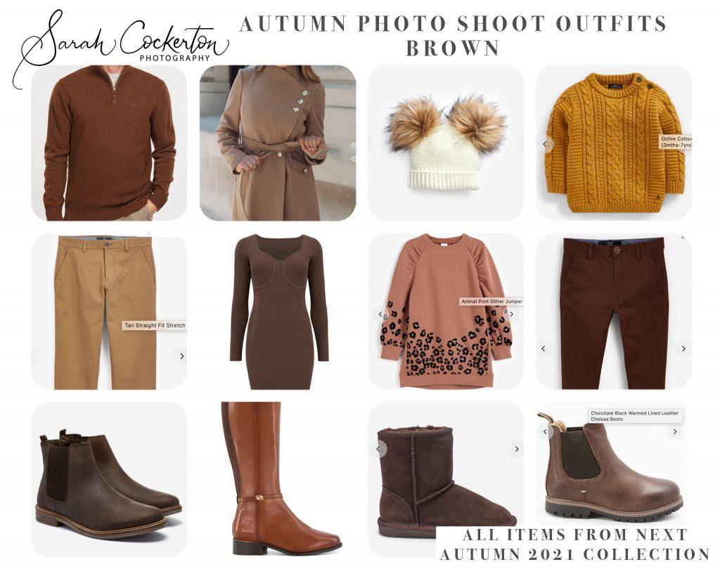 Autumn Photo Shoot Outfit Inspiration - Brown Colour Palette - NEXT
