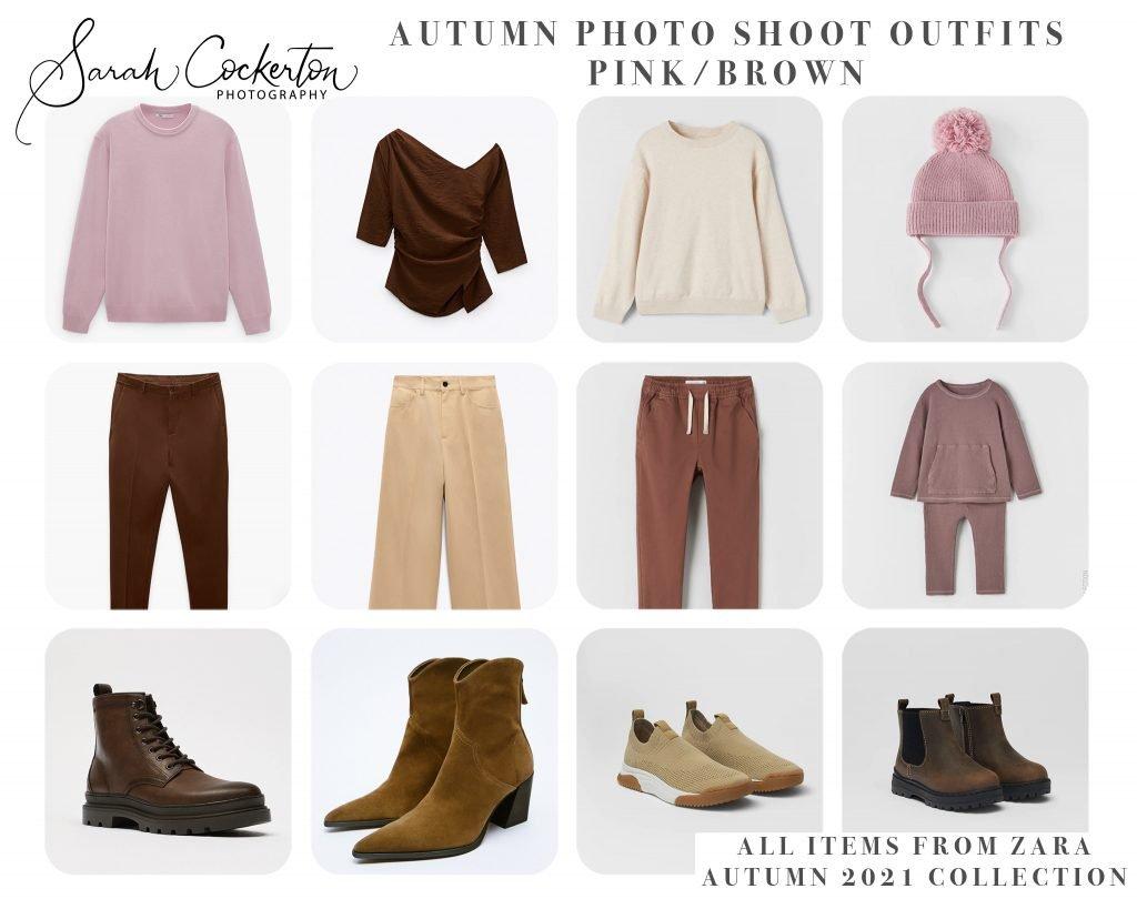 Autumn Photo Shoot Outfit Inspiration - PINK/BROWN Colour Palette